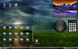 Le bureau de la distribution KUbuntu de Linux