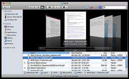 Finder le navigateur de fichier de MacOSX